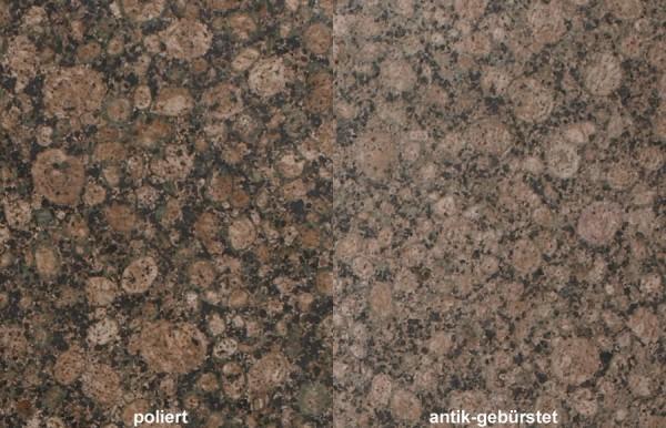 Terrassenplatten Granit Baltic Brown gebürstet
