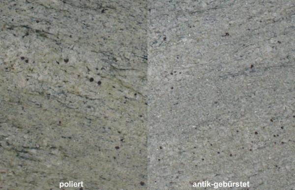 Terrassenplatten Granit Green Surf gebürstet