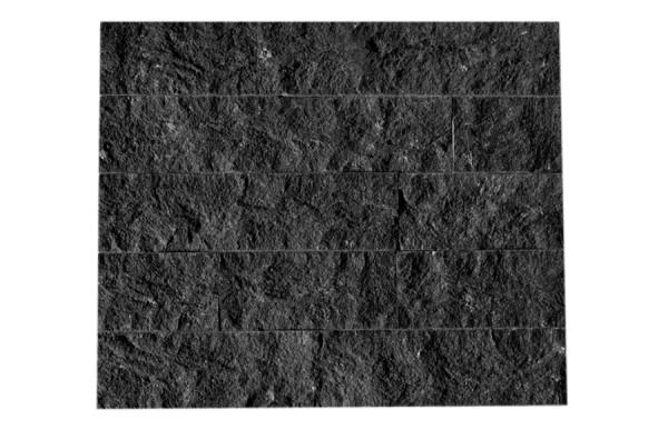 Granit-Verblender Nero Assoluto spaltrau