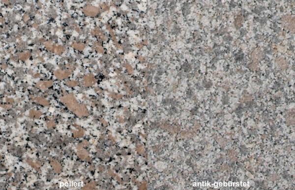 Terrassenplatten Granit Rosa Limbara gebürstet