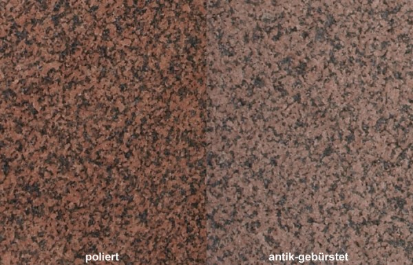 Terrassenplatten Granit Balmoral Rosso 1