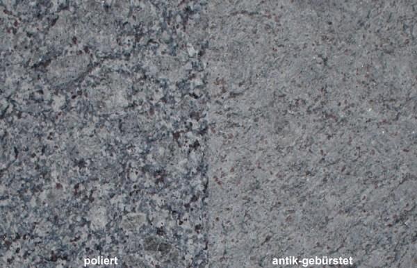 Terrassenplatten Granit Lavender Blue gebürstet