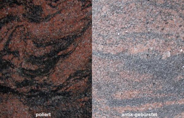 Terrassenplatten Granit Aurora India gebürstet